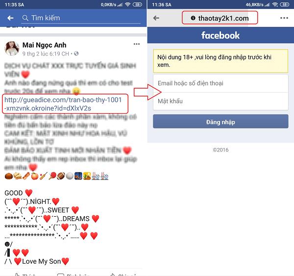 Hình ảnh optimized o5xh của Cẩn thận mất tài khoản vì gái ngành, gái dịch vụ trên Facebook tại HieuMobile