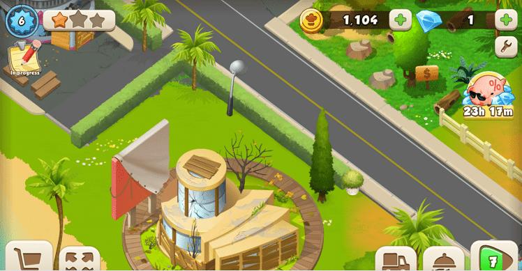 Hình ảnh trong game Tasty Town được thiết kế sinh động, nhiều màu sắc