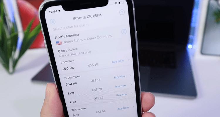 Công nghệ eSIM trên mẫu iPhone XR của Apple vừa ra mắt cuối năm 2018