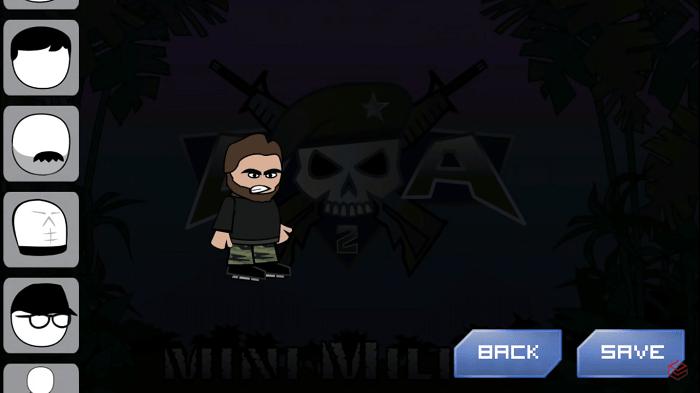 Vừa vào game Doodle Army 2 : Mini Militia bạn sẽ được tự tạo cho mình một nhân vật khá dữ dằn đậm chất quân nhân