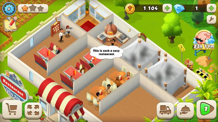 Quản lý, làm chủ một nhà hàng luôn có khách đến ăn tấp nập