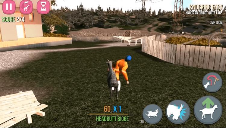 Con dê trong game Goat Simulator sẽ húc bất cứ thứ gì mà nó thích