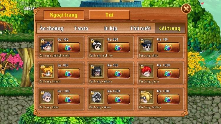 Hình ảnh optimized yhkl của Những thông tin cơ bản về Cải Trang trong game Làng Lá Phiêu Lưu Ký tại HieuMobile