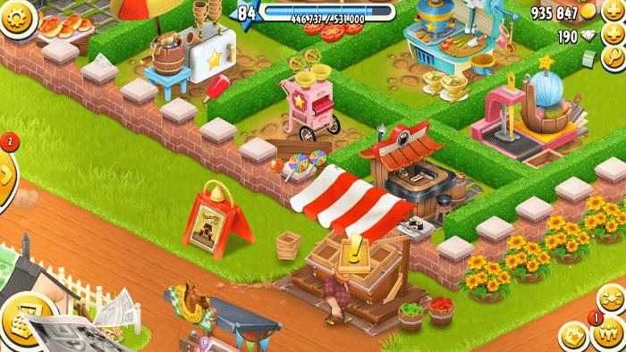 Một góc trang trại của game Hay Day với đầy đủ màu sắc phong cảnh sinh động