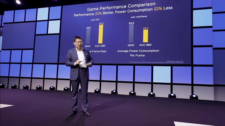 Đại diện Huawei giới thiệu công cụ GPU Turbo tại một sự kiện vào năm 2018