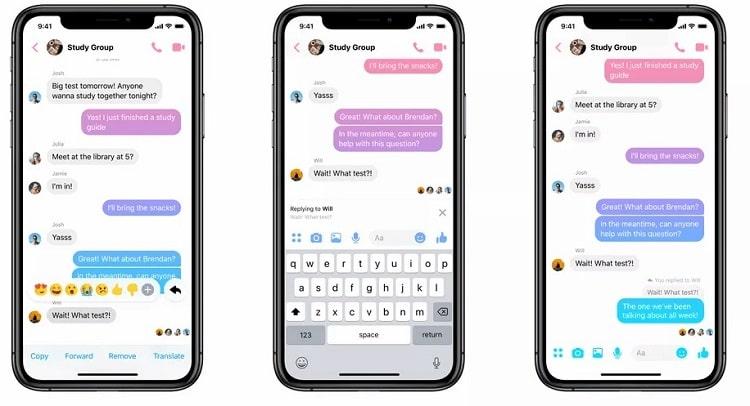 Cách sử dụng tính năng Trích dẫn và trả lời một tin nhắn bất kỳ trong cuộc trò chuyện nhóm của Messenger