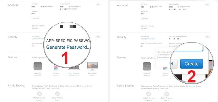 Tạo tên cho mật khẩu ứng dụng mới