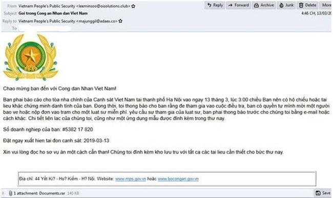 Cẩn thận khi mở các email lừa đảo và email trong hộp thư Spam