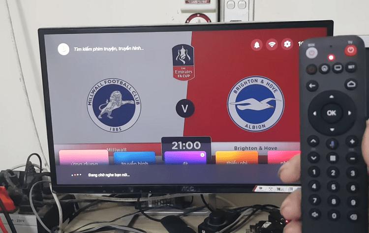 Remote sử dụng kết nối Bluetooth điều khiển từ xa bằng giọng nói